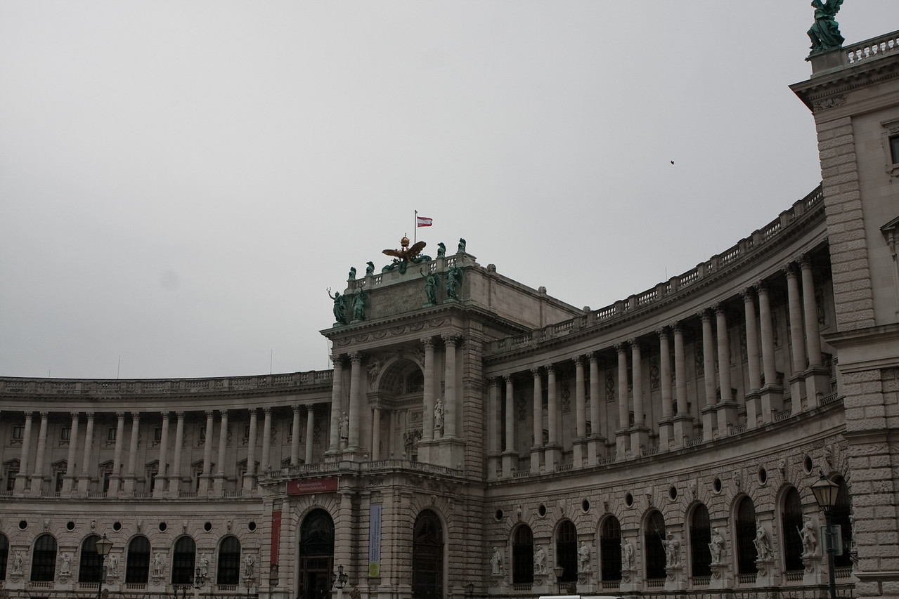 Another view of the Hofburg palace.