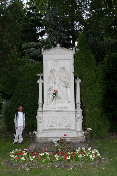 Vienna - Zentralfriedhof (Central Cemetary) - Franz Shubert's grave