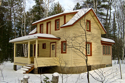 Big Cabin Under Snow | Photo courtesy of Mike Anttonen