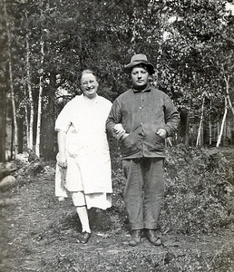 Otto and Lillian Kaarto | Standing where the Big Cabin will be built