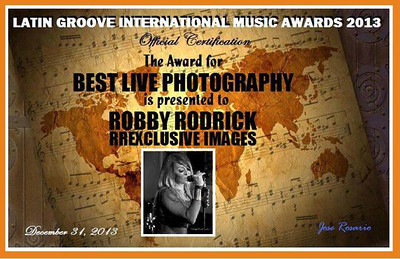 Very proud of my award, there are several great photographers out there doing the same thing I do.  Very honored and humbled.