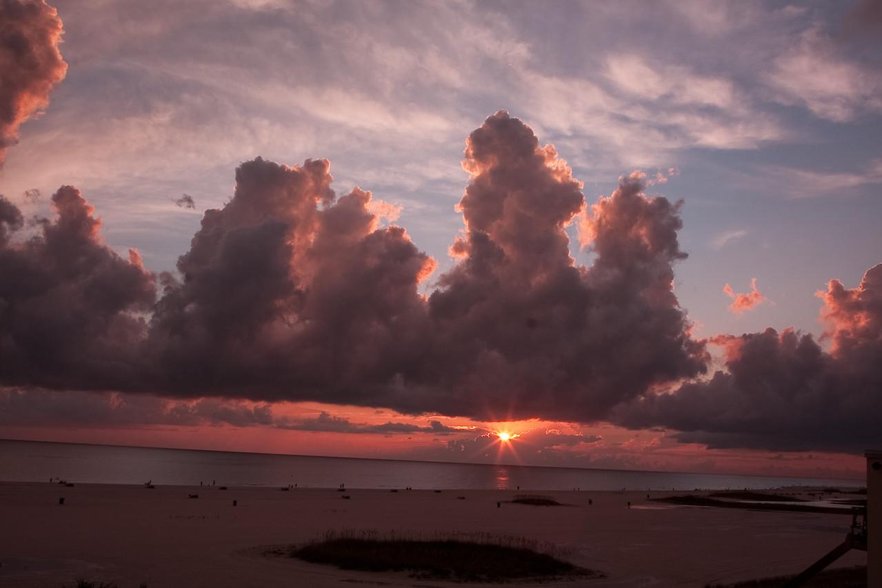 Sunset in Treasure Island beach in near St. Petersburg, FL