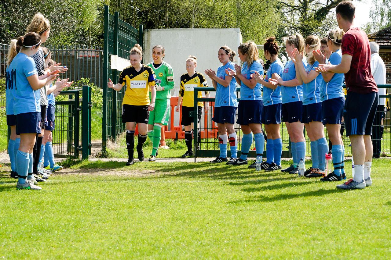 Crawley Wasps Ladies vs London Kent on April 22, 2018 at Crawley Down Gatwick Football Club, Crawley Down. Photo: Ben Davidson, www.bendavidsonphotography.com