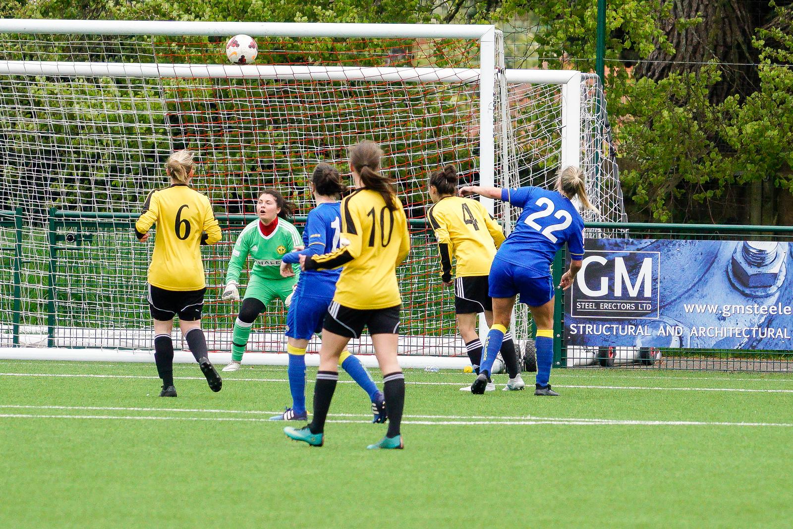 Crawley Wasps Ladies vs AFC Wimbledon on April 29, 2018 at Steyning Town Football Club, Steyning. Photo: Ben Davidson, www.bendavidsonphotography.com