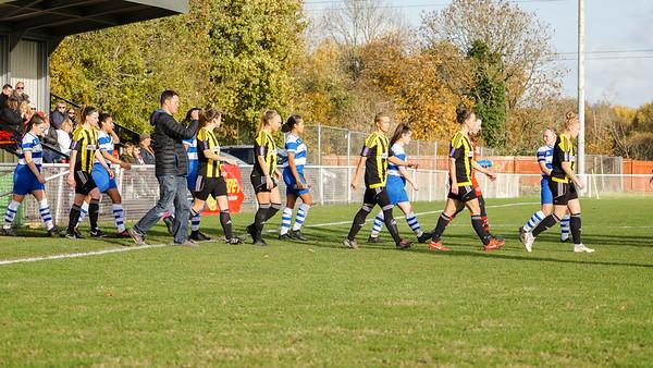 Crawley Wasps LFC (6) vs QPR Girls (0) on November 11, 2018 at Oakwood Football Ground, Tinsley Lane, Crawley, Crawley. Photo: Ben Davidson, www.bendavidsonphotography.com (181111-0037)
