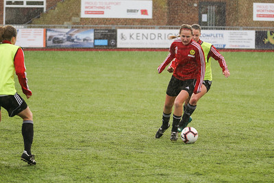 Crawley Wasps LFC (2) vs Chichester City LFC (0) on December 09, 2018 at Worthing FC, Woodside Road, Worthing, Worthing. Photo: Ben Davidson, www.bendavidsonphotography.com (181209-0113)