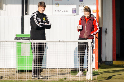 Crawley Wasps Ladies (1) vs Chichester Ladies (2) on January 20, 2019 at Oakwood Football Club, Tinsley Lane, Crawley RH10 8AT, Crawley. Photo: Ben Davidson, www.bendavidsonphotography.com