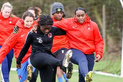 Crawley Wasps Ladies (4) vs Leyton Orient WFC (1) on January 27, 2019 at Oakwood Football Club, Tinsley Lane, Crawley RH10 8AT, Crawley. Photo: Ben Davidson, www.bendavidsonphotography.com - 1901270082