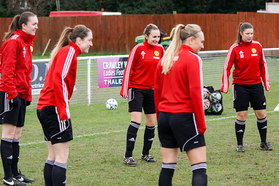 Crawley Wasps Ladies (4) vs Leyton Orient WFC (1) on January 27, 2019 at Oakwood Football Club, Tinsley Lane, Crawley RH10 8AT, Crawley. Photo: Ben Davidson, www.bendavidsonphotography.com - 1901270006