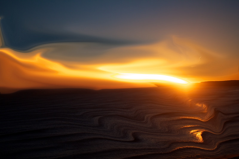 Abstract view of sunrise