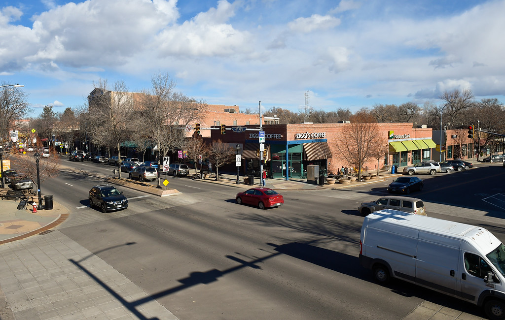 . LONGMONT, CO - DECEMBER 19: The intersection of Fourth Avenue and Main Street December 19, 2018. (Photo by Lewis Geyer/Staff Photographer)