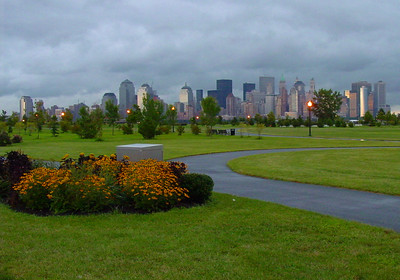 Manhattan skyline from Liberty State Park in New Jersey