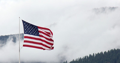 Posted on the Fourth of July 2012.  Old Glory flies over Spearfish, South Dakota.