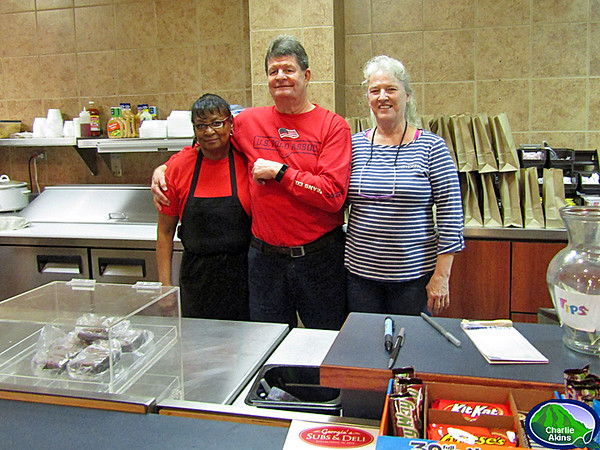 This group works at Georgia's Sub & Deli.
