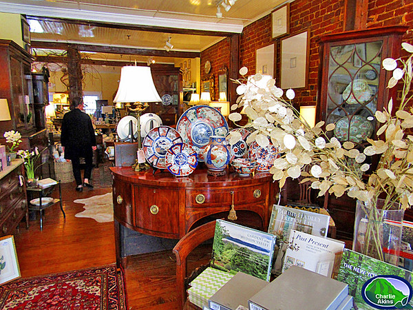 The antiques and gifts are beautiful at Enchanted Antiques.