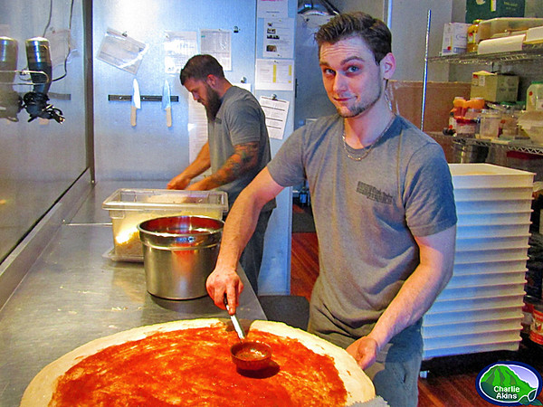 Look at the size of that pizza at Benny Scarpetta's!