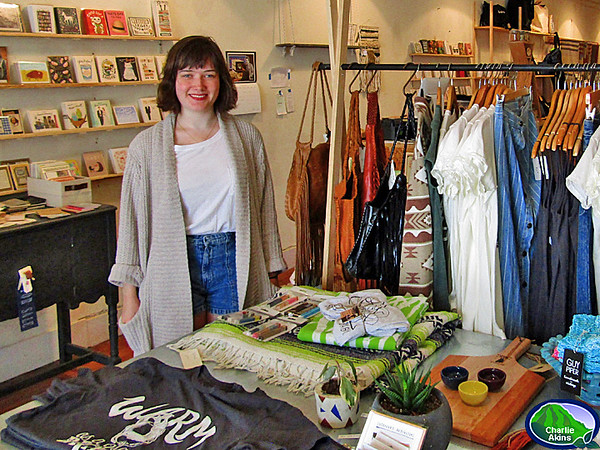 I saw this nice lady at The Conscious Mercantile.
