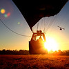 A beautiful sunrise in a Hot Air Balloon