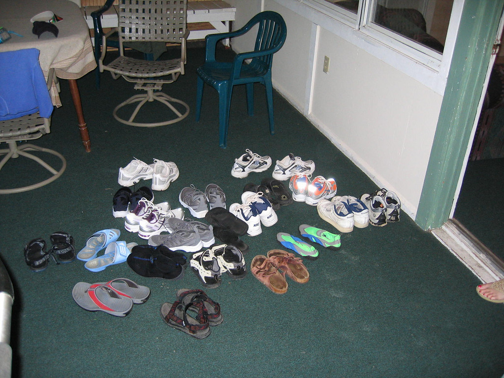 The shoe pile