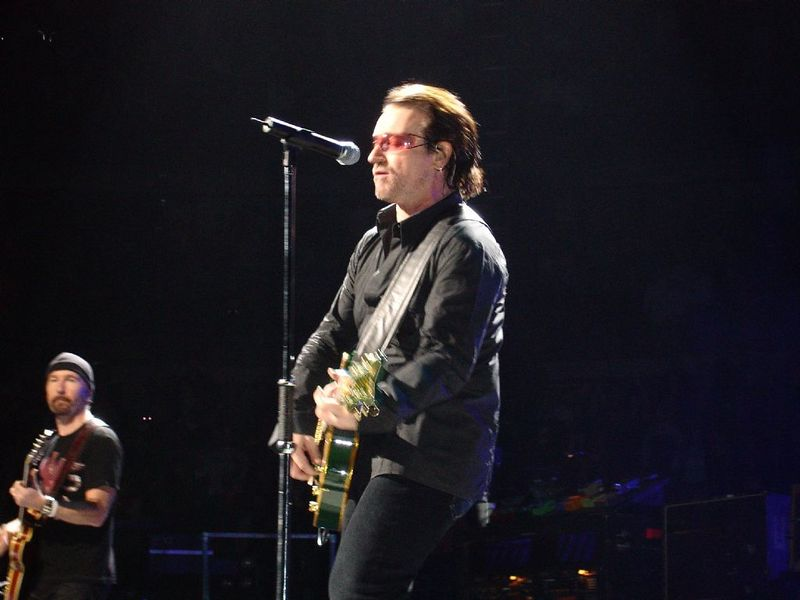 Bono back with his guitar!