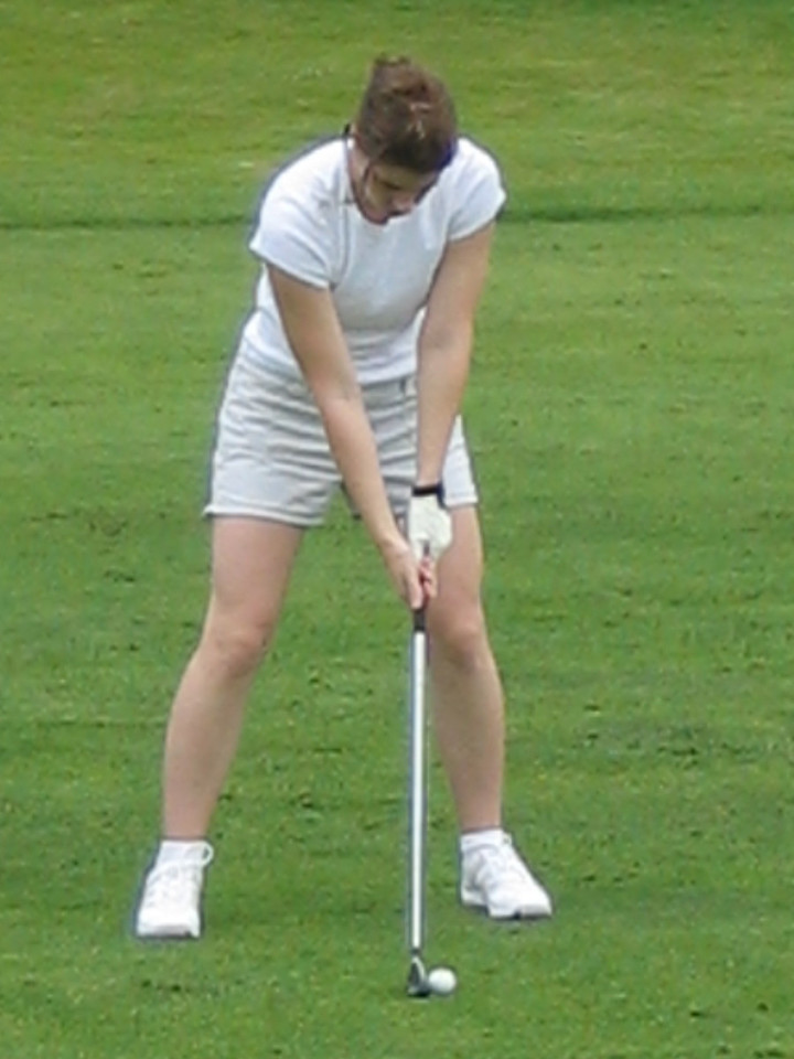 Kelly on the fairway