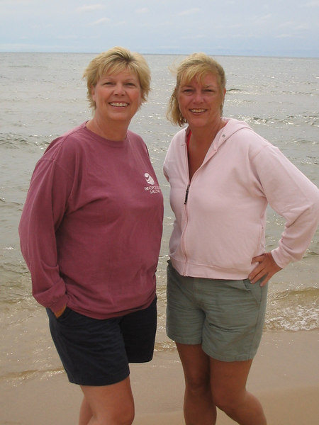 Mom and Ginger at the beach
