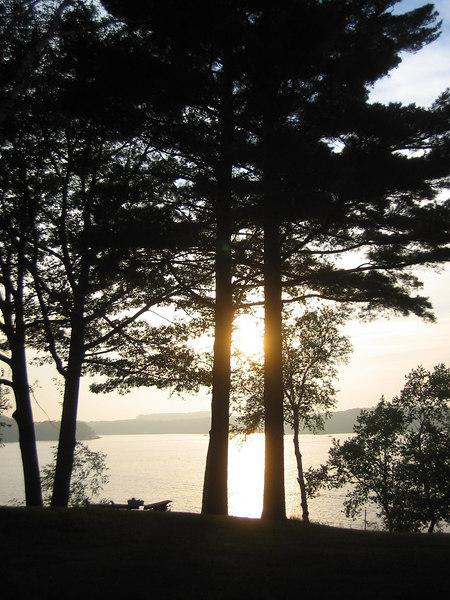 sunset on Hamlin lake