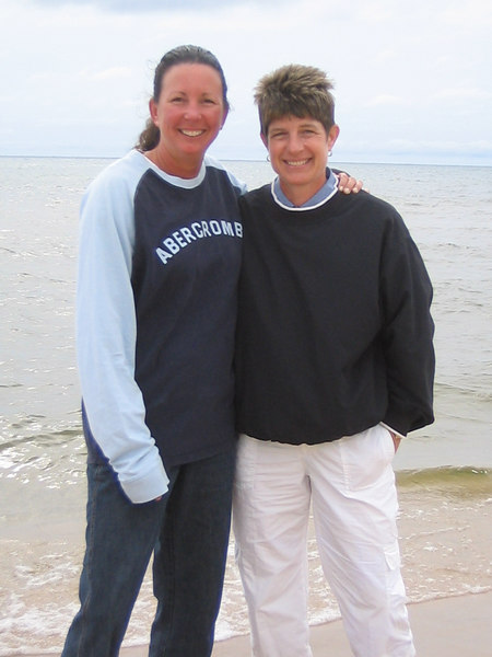 Teri and Pam at the beach