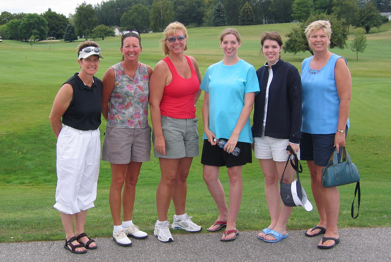 Pam, Teri, Ginger, Mindy, Kelly, Carla after our round of golf at Lakeview Links