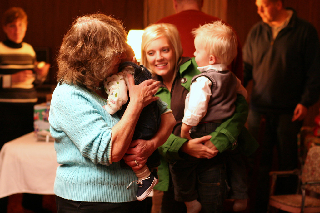 Grandma Myrt with Henry, Jessica and Ryder