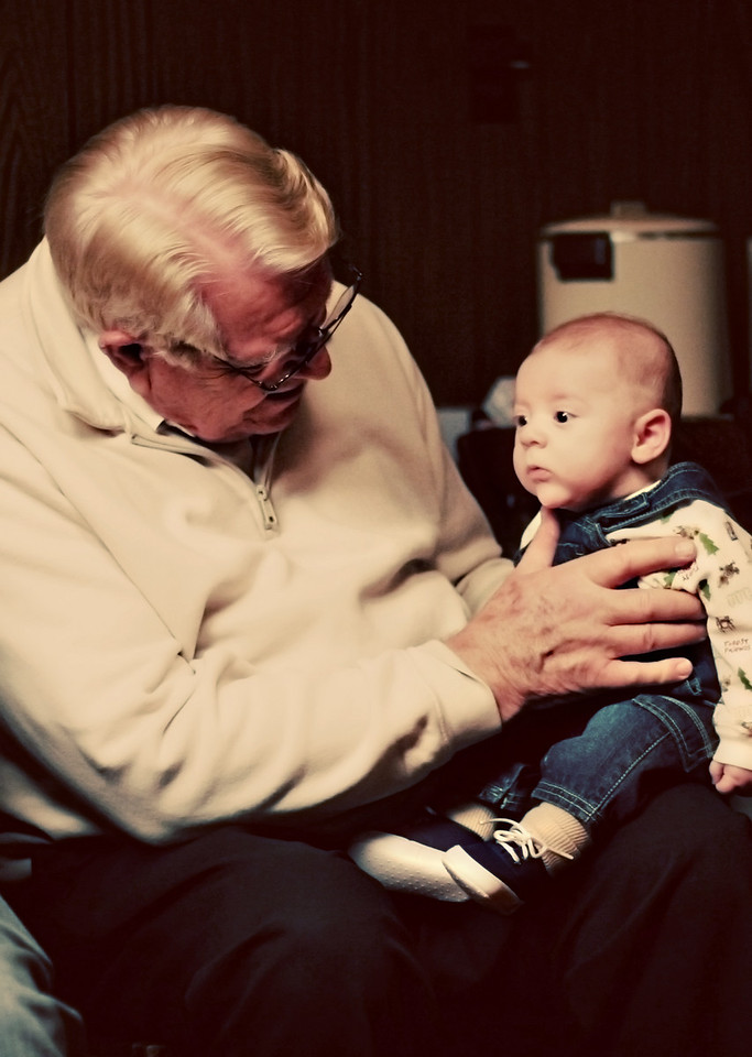 Grandpa Marv and Henry