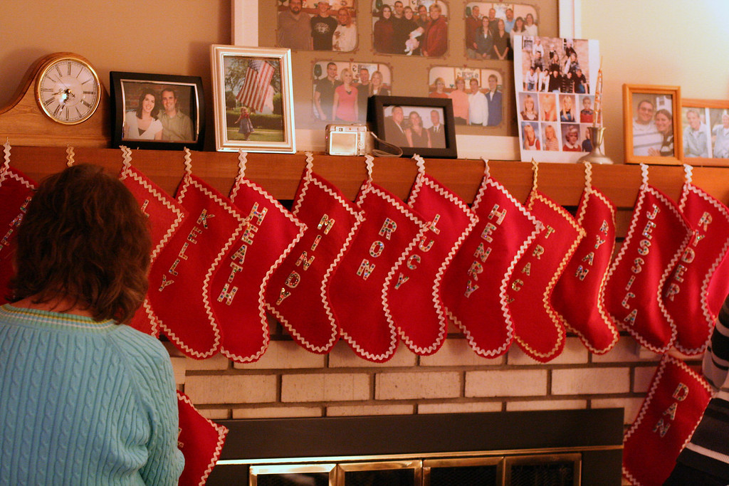 Stockings being hung back up