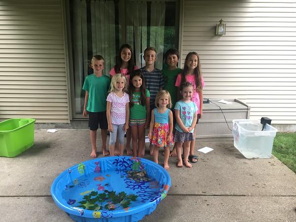 The Kids Make an Aquarium