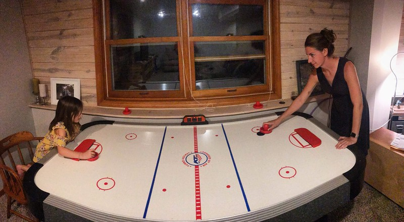 Our new air hockey table!