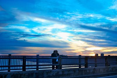 sunset-bridge-kiss