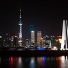 Shanghai Bund at night.