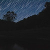 composite image of stars, planes and satellites.  cold night, so very few fireflies.