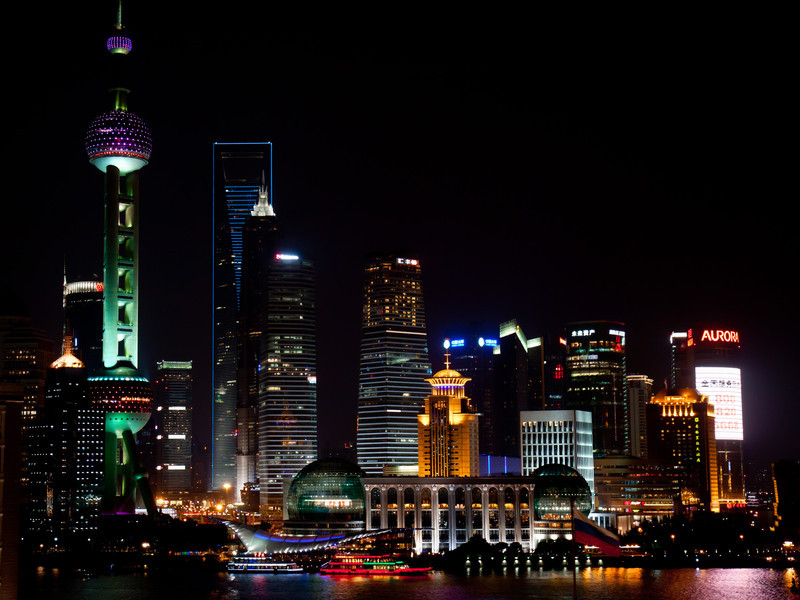 view from room in Shanghai Saturday night.