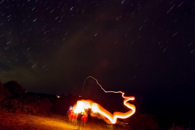 Sky Lantern launch using long exposure.