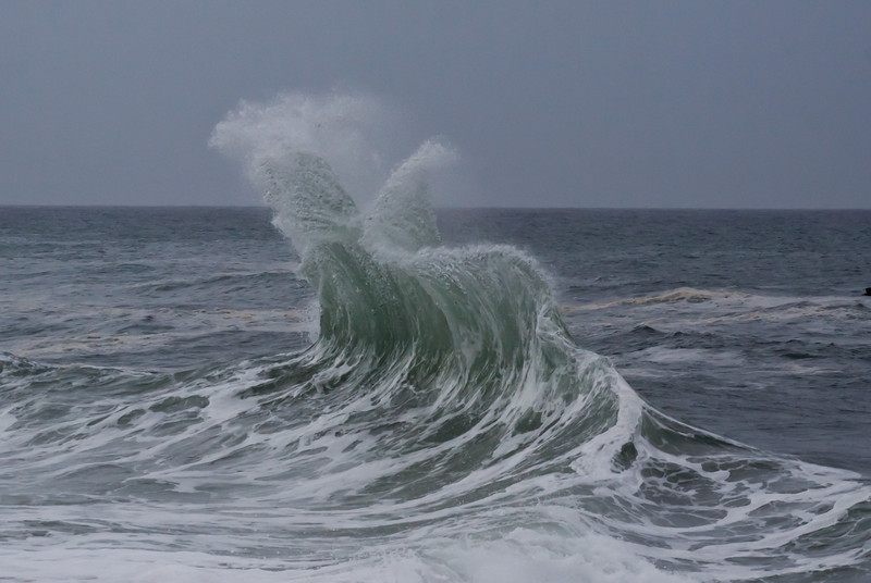 waves in opposite directions collide.