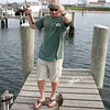 Chris passing time catching scup. This is a normal sized scup. Sorry Chris, not a scubzilla.