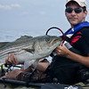 Aaron with a nice 21.587 lb striped bass. This was the largest of the week until late Friday when Ken out classed it with a 26lb fish.  It is Aaron's largest bass ever.