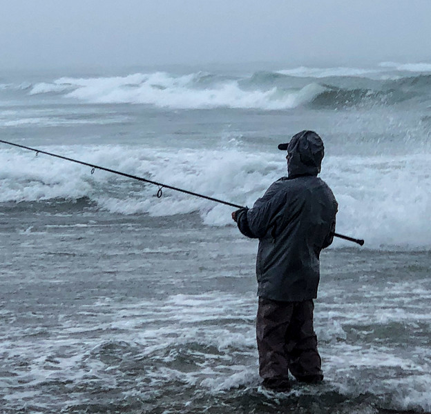 Fishing North Rip in a storm... Photo by Herman Lange