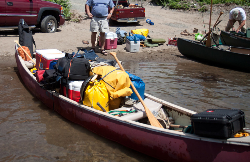 my over packed canoe.