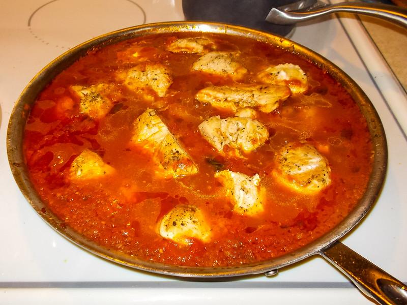 Chicken Cacciatora simmering