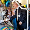 Hospital Vice president and chief operating officer congratulates Matt and also gave him a card and gift.