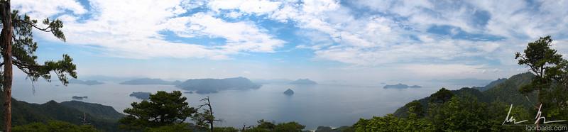 Miyajima Island view from highest peak