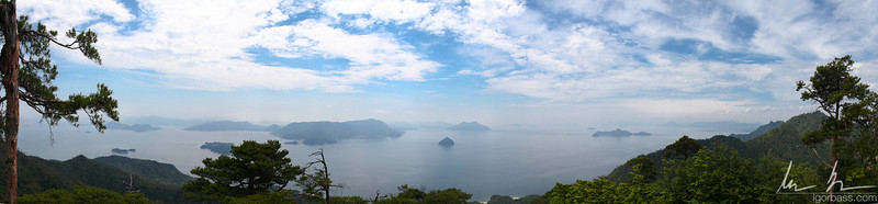 Miyajima Island view from highest peak