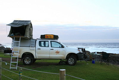 Home-Sweet-Home for 100 days in Africa!  Campsite along the coast in South Africa.