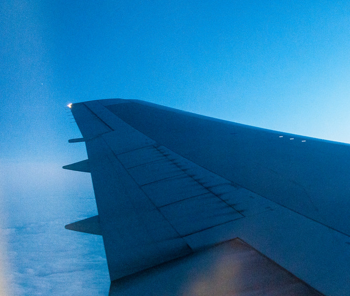 Our Plane's Wing Delta Flight 64 over Ireland